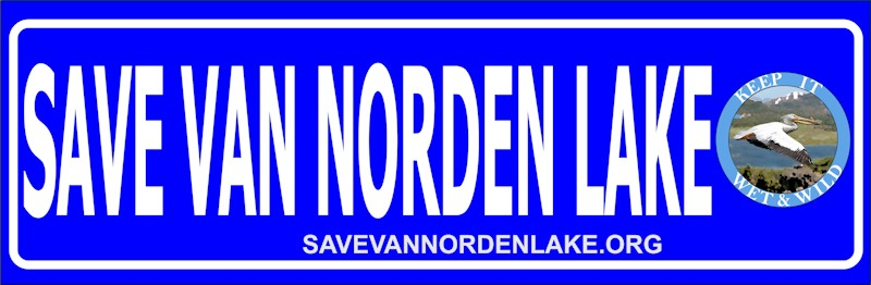 Save Van Norden Lake bumper sticker medium