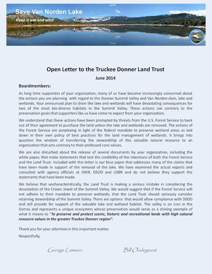 Open letter to TDLT 6-14