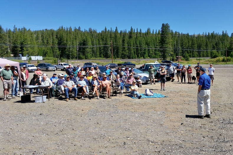 Charles Goldman address at Van Norden Lake Day at Van Norden dam-03 7-25-15
