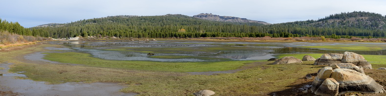 Drained lakebed of Van Norden Lake pano3 10-24-15