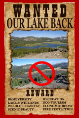 Give us our lake back!
