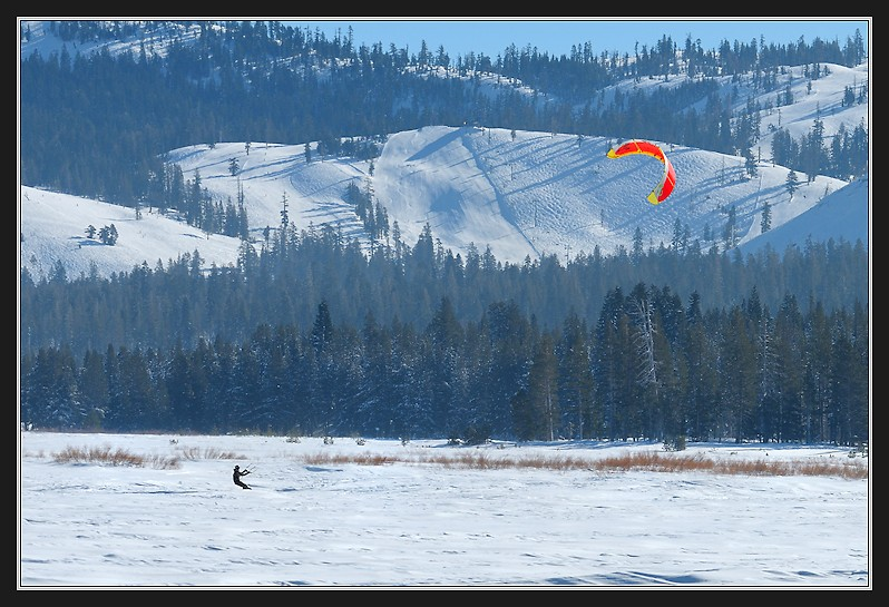 Kite skiing in Van Norden Meadow-13 1-1-13