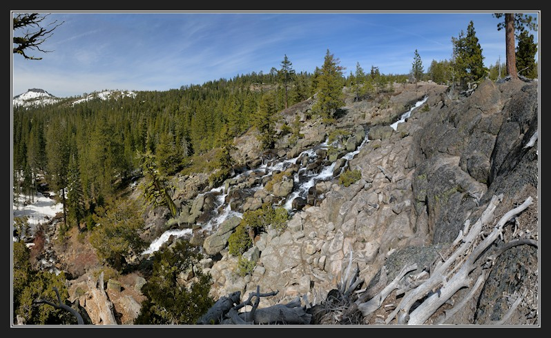 Palisades Falls in Royal Gorge area pano1 4-13-13