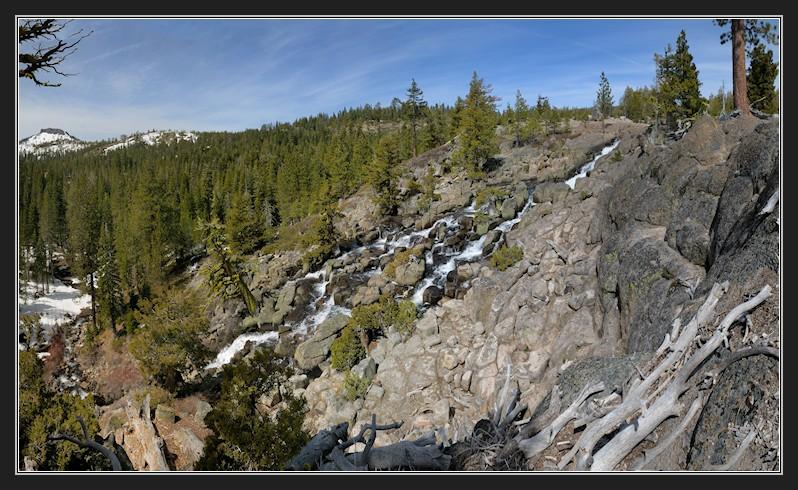 Palisades Falls in Royal Gorge area pano1 4-13-13