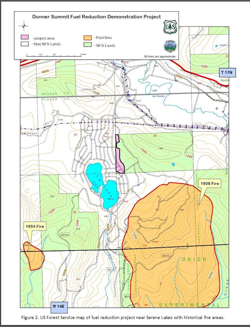 Donner Summit Fuel reduction project map