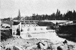 Van Norden Lake spillway - PG&E pic 1903