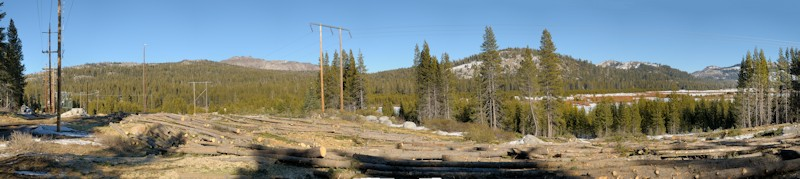 Cleared forest along powerlines in Summit Valley pano2 1-5-14