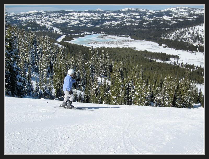 LC skiing on Mt Disney at Sugar Bowl 2-11-14