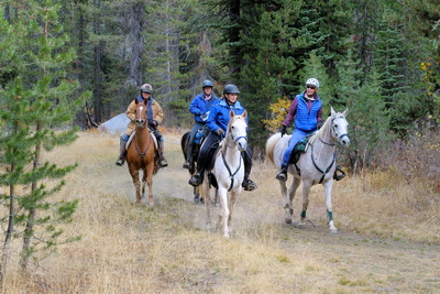 Lorna riding with her equestrian group at Royal Gorge-01 10-21-12