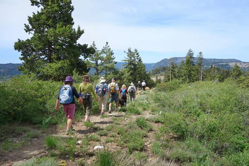 GL LC with hiking group on Razorback Bridge in Royal Gorge area 6-14-14