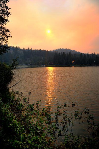 Smokey sunset over Lake Dulzura at Serene Lakes-02 8-23-13