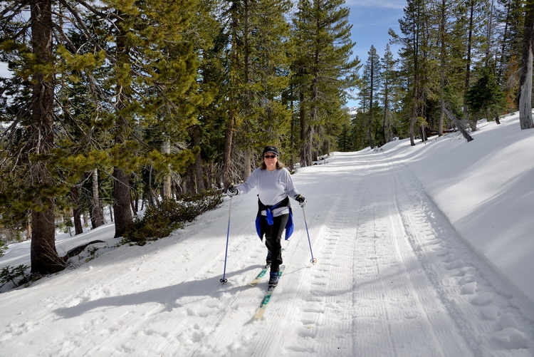 LC skiing up to Palisade Peak in Royal Gorge area-08 2-12-15