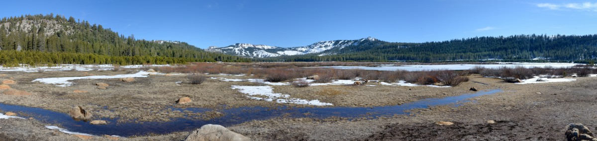 Van Norden Meadow with low snow pano2 2-20-15