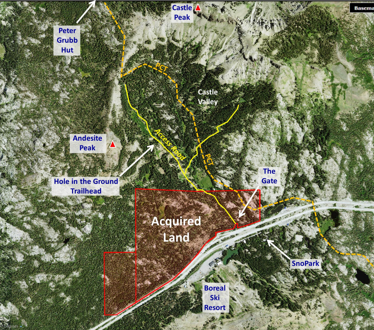 Castle Peak area land acquistion at Donner Summit