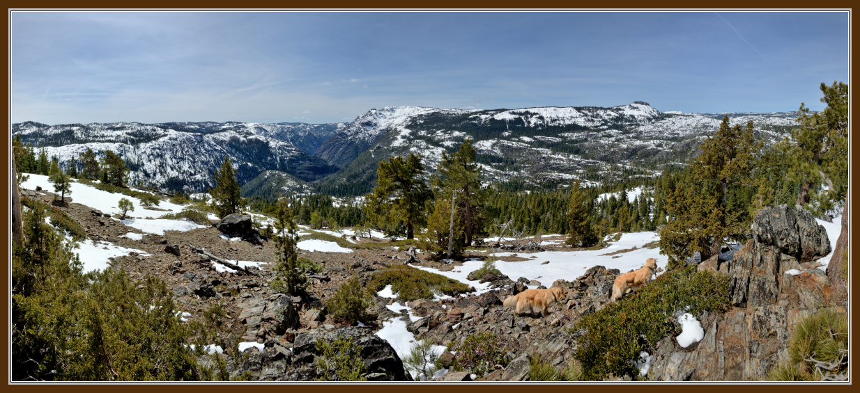 Royal Gorge, Snow Mountain and Devils Peak from Mariah Pt in the Donner Summit area