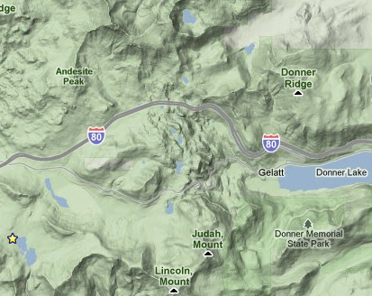 Donner Pass Map Maps of Donner Summit | OnTheSummit